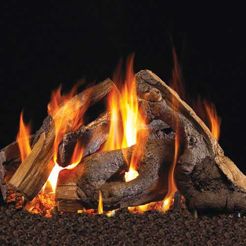 Handcrafted woodstack fire pit logs
