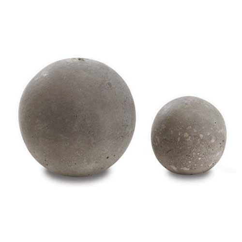 Large and small fire pit spheres for decoration within fire pit