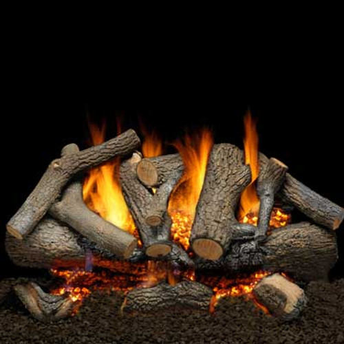 Charred mountain stack fire pit logs