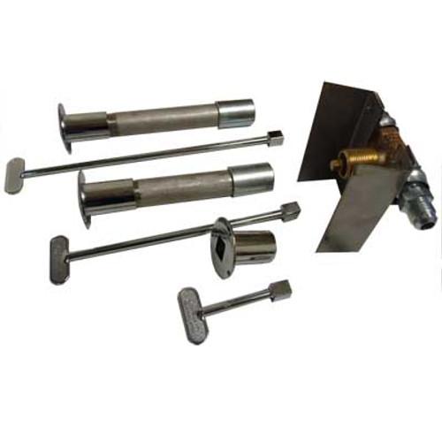 Manual valve kit with mounting bracket.  Includes: stainless steel bracket, brass valve, decorative valve cover, key.