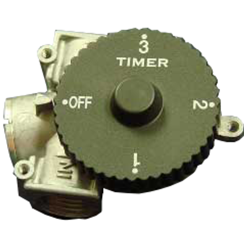 3-hour gas shut off timer- auto rotates to turn off gas supply