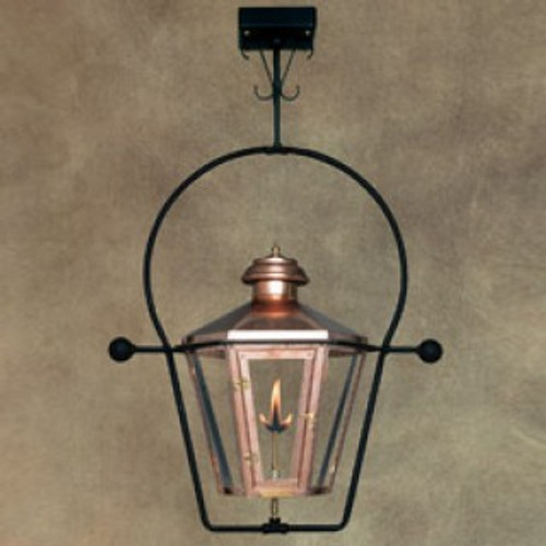 Custom copper gas light with yoke ceiling mount- The Apollo I
