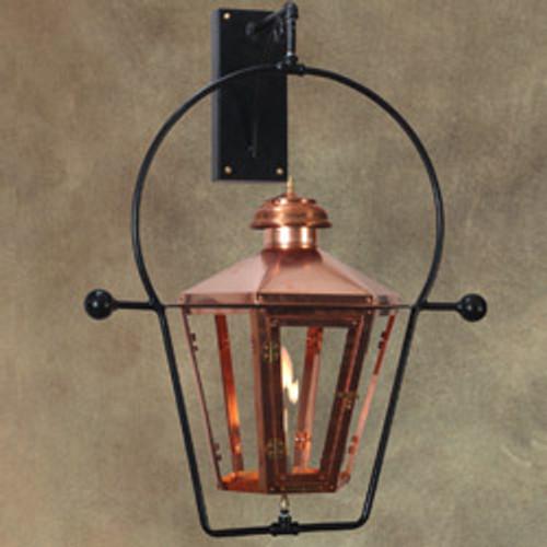 Custom copper gas light with wall yoke mount- The Apollo III