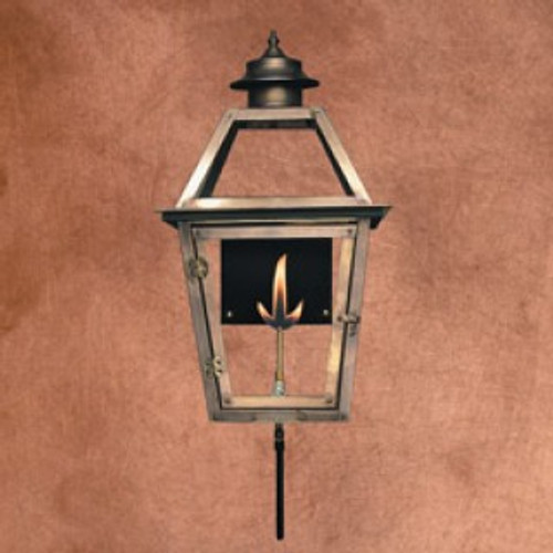 Handcrafted copper gas light with standard wall bracket- The Atlas III