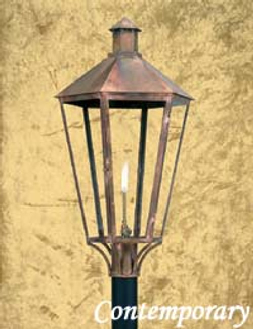 Custom copper gas light- The Contemporary