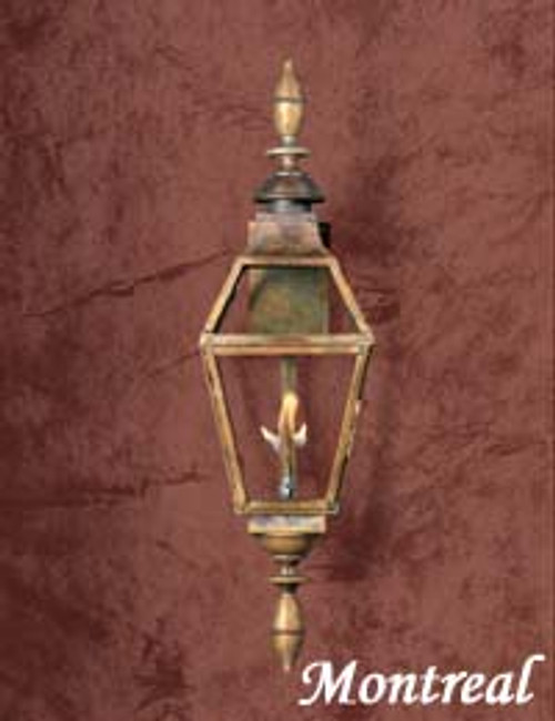 Large copper gas light- The Large Montreal