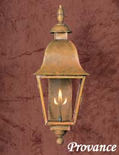 Large copper gas light- The Provence