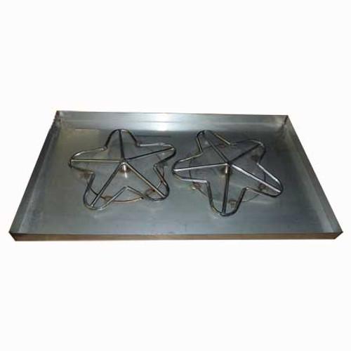 "42"" x 24"" rectangle fire pit pan."