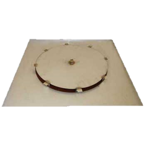 "42"" flat square fire pit disc with 18"" access plate"