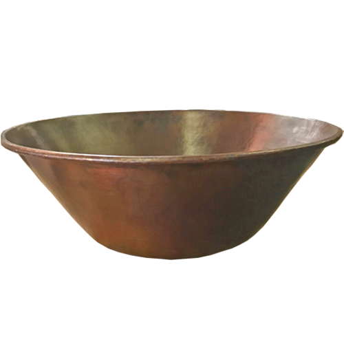 "24"" Mediterranean Copper Fire Bowl with Smooth Finish"