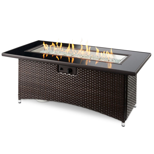 Montego Fire Pit Table in Balsam- Lit