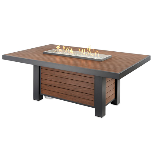 Large Kenwood Fire Pit Table Lit