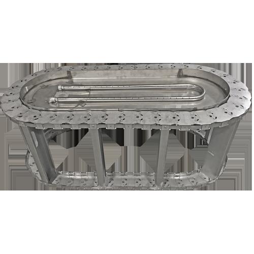 """50"""" oval frame with manual h-burner"""