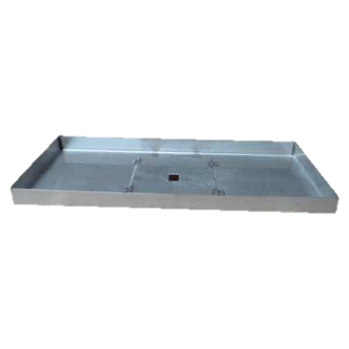 """52"""" x 16"""" stainless steel rectangle fire pit pan."""