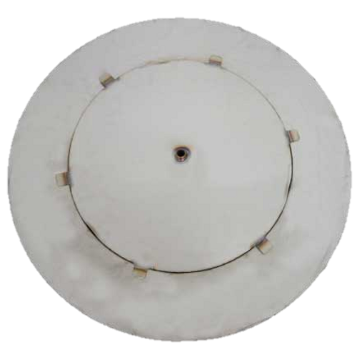 """27"""" flat round fire pit disc with 18"""" access plate"""