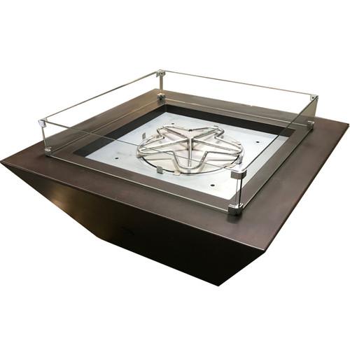 Square glass wind guard