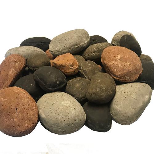 Assorted color river rock