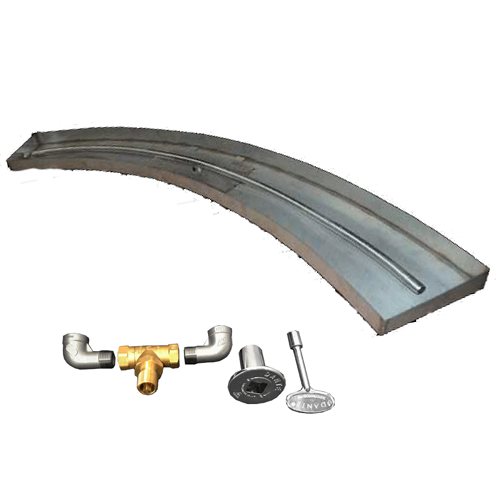 "88"" curved burner kit with components"