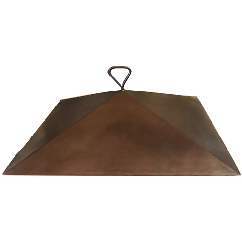 "36"" copper dome fire pit cover with an 8"" height"