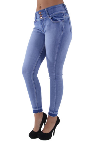 8Y063(S) - Butt Lift, Levanta Cola, Ankle Skinny Jeans