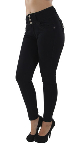 7A0203aS - Colombian Design, Butt Lift, Push Up, Mid Waist, Skinny Jeans