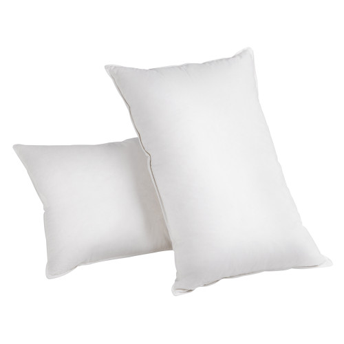 Set of 2 Goose Feathers & Down Pillow