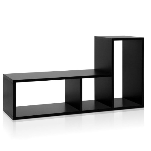 DIY L Shaped Display Shelf Black