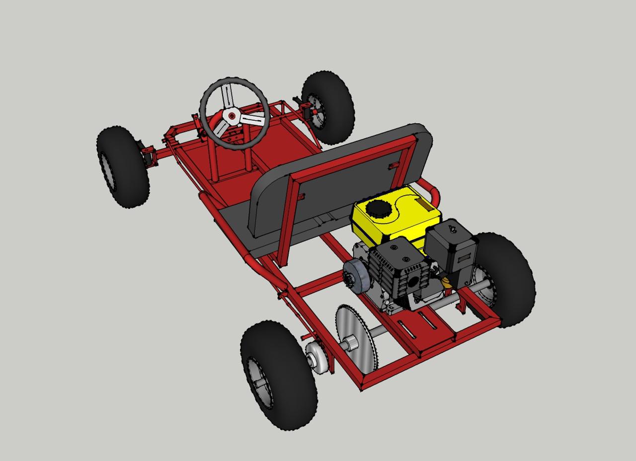 Live Axle Go-Kart Kit