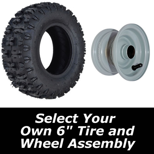"""Build Your Own 6"""" Tire Assembly, THIS IS FOR 1 WHEEL ASSEMBLY"""