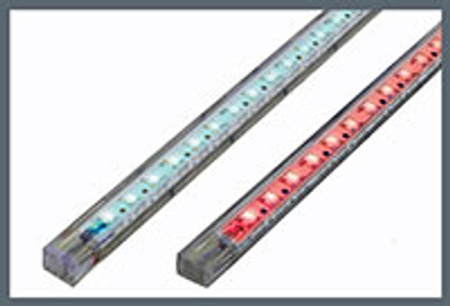 Strip 22 LED 25cm (10in) White-Blue (Dual Color) - Dual Lead