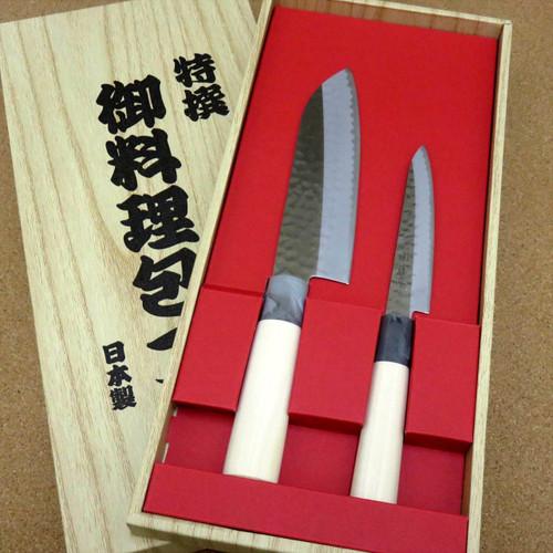 Japanese Yaxell SEKI TOBEI Kitchen Knife 2 Pair Gift Sets Santoku U0026 Paring  JAPAN