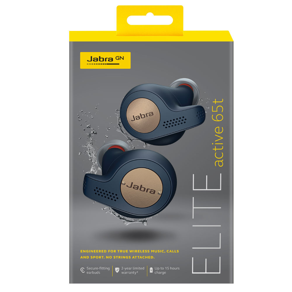 Jabra Elite Active 65t True Wireless Earbuds (Copper Blue)