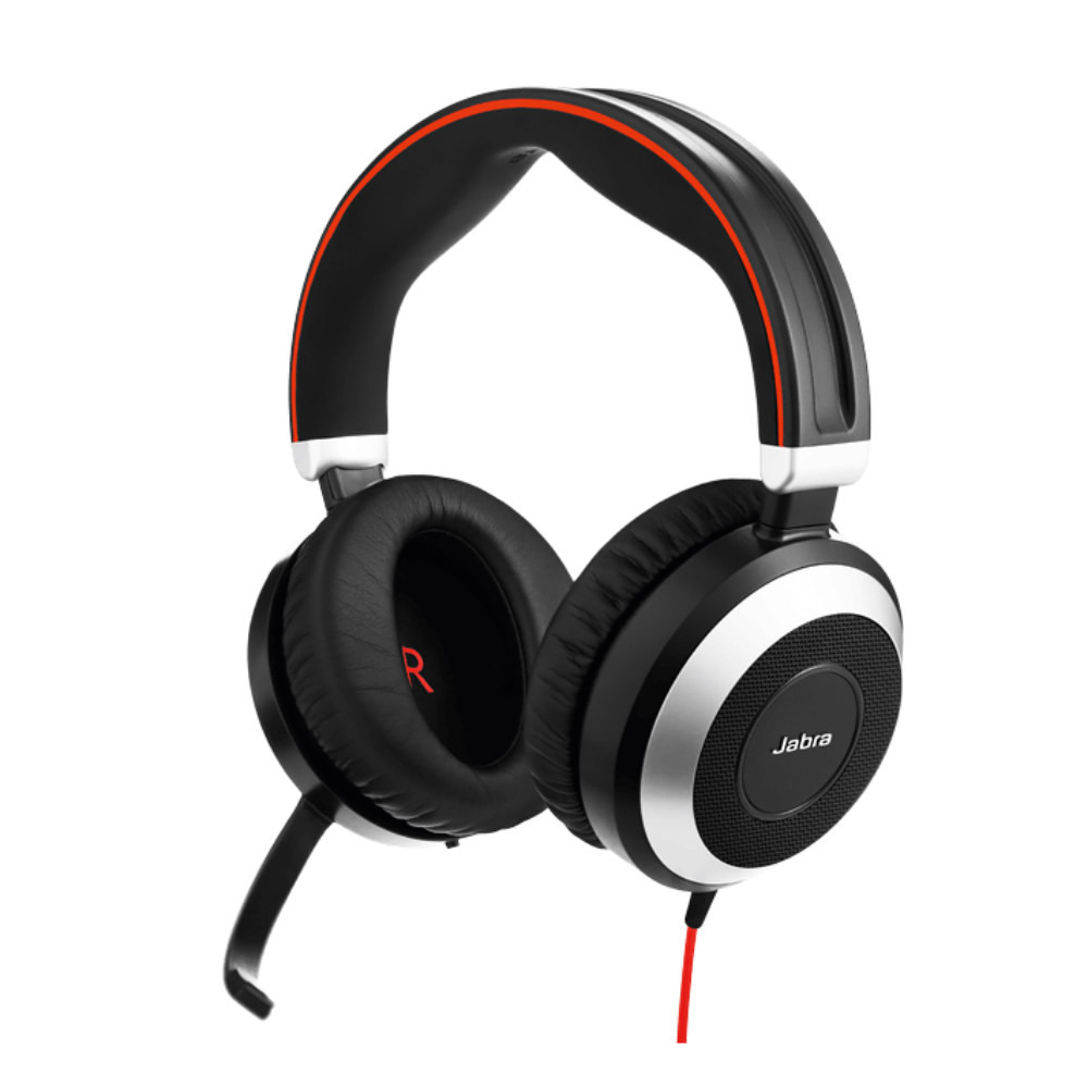 Jabra Evolve 75 Ms Stereo: Jabra Evolve 80 MS Stereo Active Noise Cancelling Headset