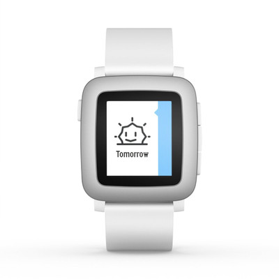 Pebble Time Smartwatch (White)