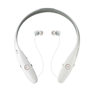 LG Tone Infinim HBS-900 Premium Wireless Bluetooth Headset (White)