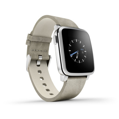 Pebble Time Steel Smartwatch (Silver)