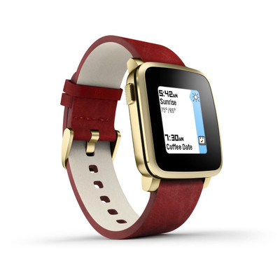 Pebble Time Steel Smartwatch (Gold)