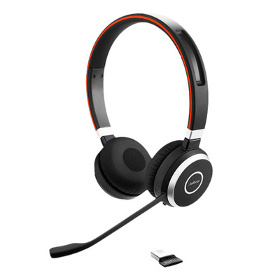 Jabra Evolve 65 UC Stereo Professional Wireless Headset With USB Adaptor (Black)