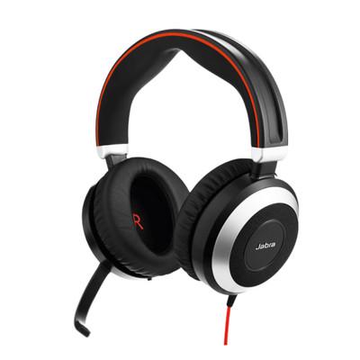 Jabra Evolve 80 UC Stereo Active Noise Cancelling Headset (Black)