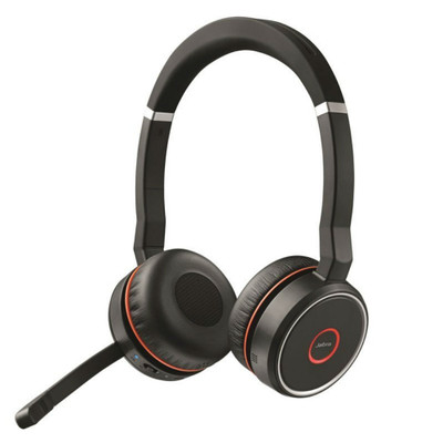Jabra Evolve 75+ UC Wireless Headset With Charging Stand (Black)