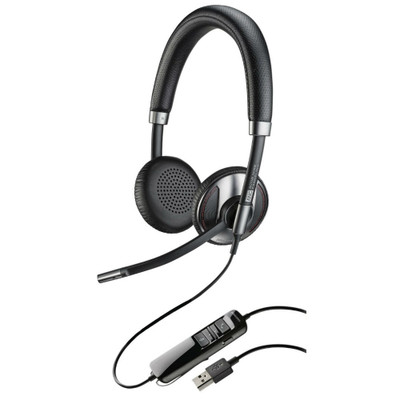 Plantronics Blackwire 725 Standard Corded USB Headset With Noise Cancellation (Black)