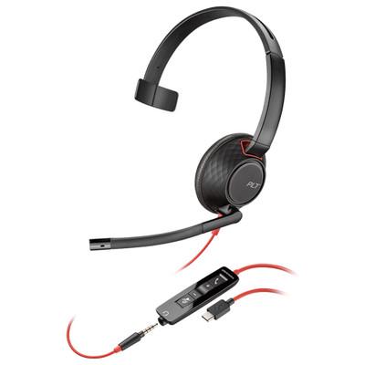 Plantronics Blackwire 5210 USB-C Corded Mono Headset (Black)