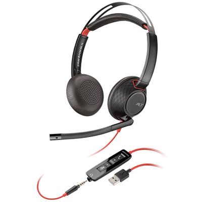 Plantronics Blackwire 5220 USB-A Corded Stereo Headset (Black)