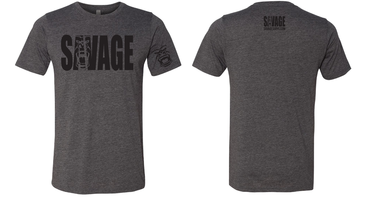 savage t black lettering
