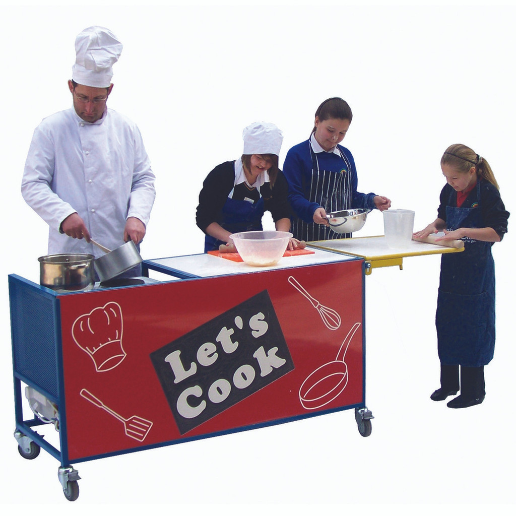 Let's Cook Cooking Trolley