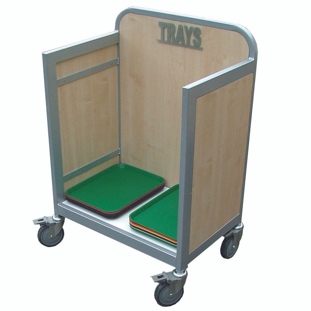 Wooden Tray Trolley