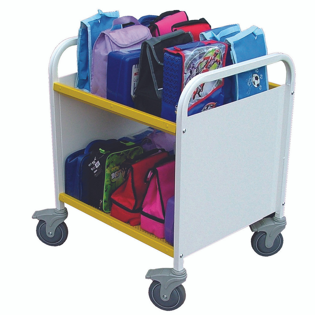 White Lunchbox Trolley