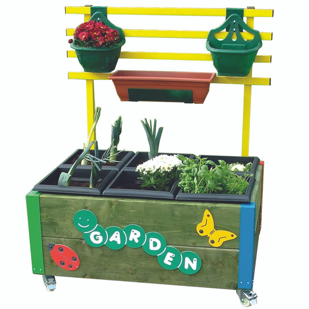 6 box planter with hanging rail