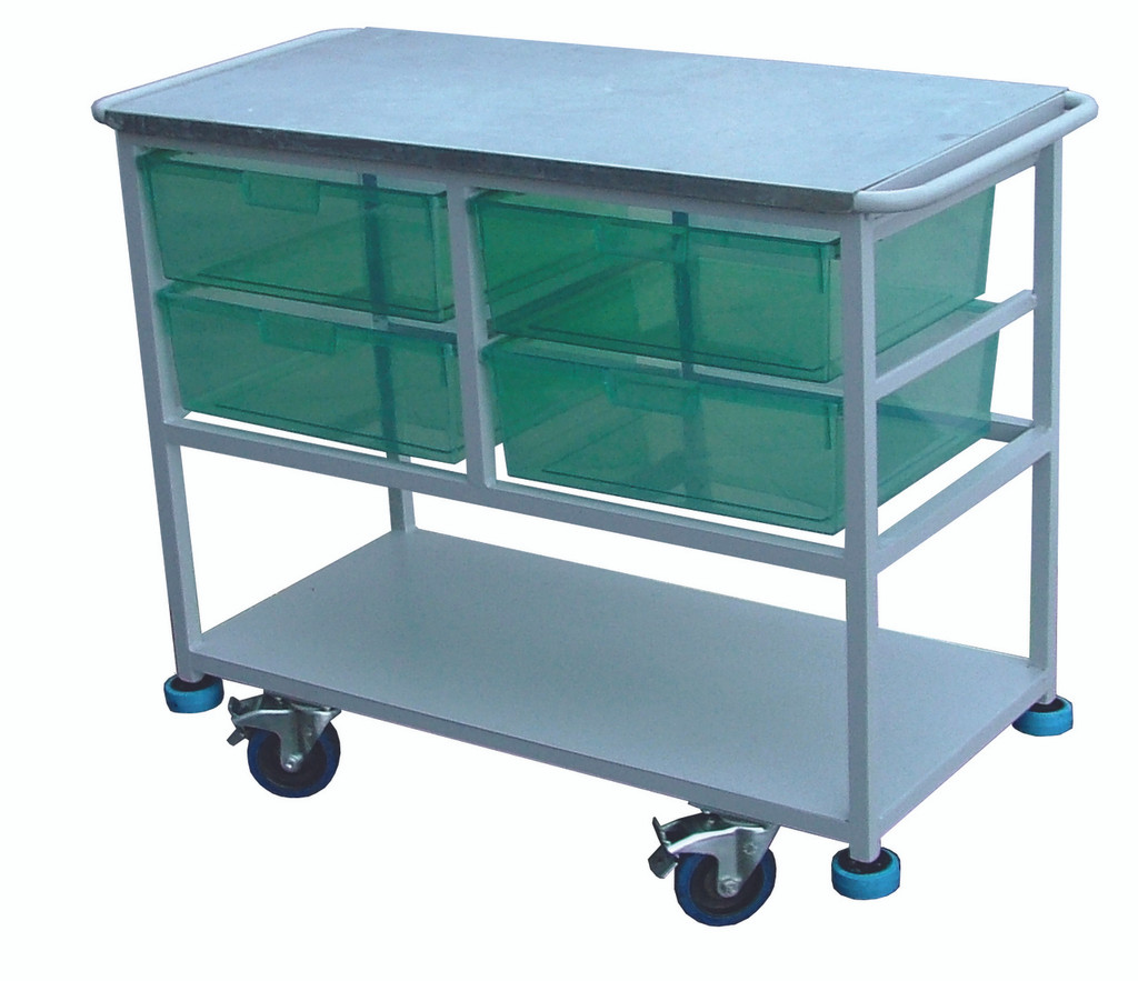 Aluminium Cleaning Trolley