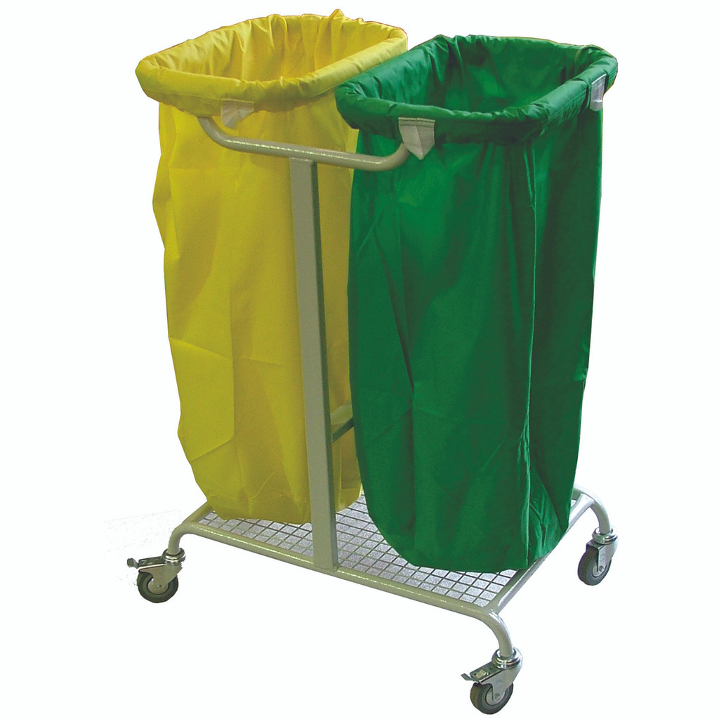 Double bag Laundry Trolley